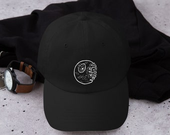 detailed look 7ebea 43199 Star Wars Death Star Embroidered Dad Hat