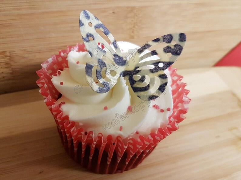 Zebra Print Edible Cupcake Toppers Decoration Kitchen, Dining & Bar