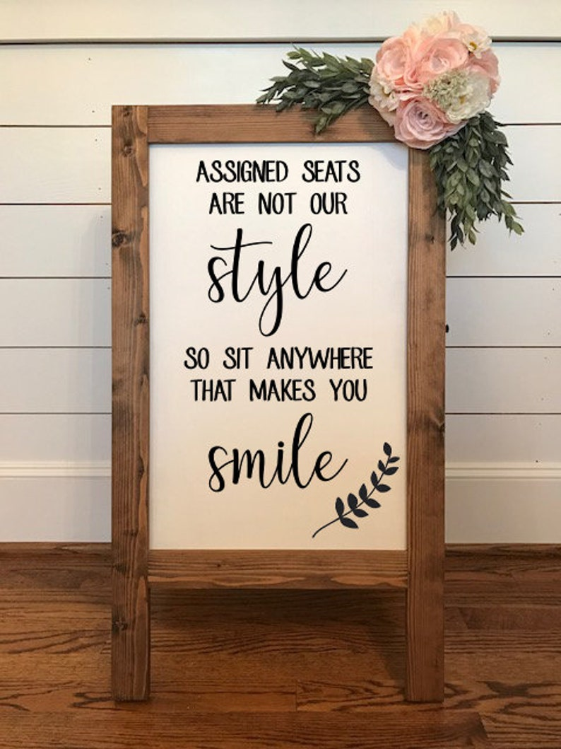 Assigned Seats are Not Our Style No Seating Plan Wedding image 0