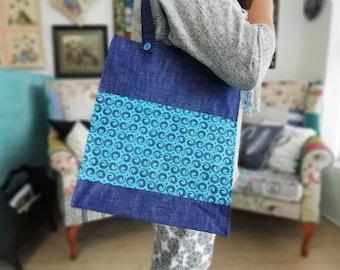 Tote Bag Pattern PDF Easy Sewing Pattern - Market Bag Pattern - Tote Pattern - Bag PDF Pattern - Canvas Tote Bag - Bag Patterns