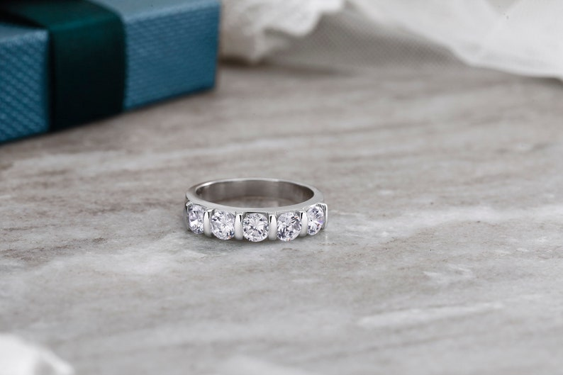 Band Ring Eternity Band Rings High Quality Eternity Band 925 Sterling Silver Eternity Rings Stackable Ring Round Cz Eternity Band Rings
