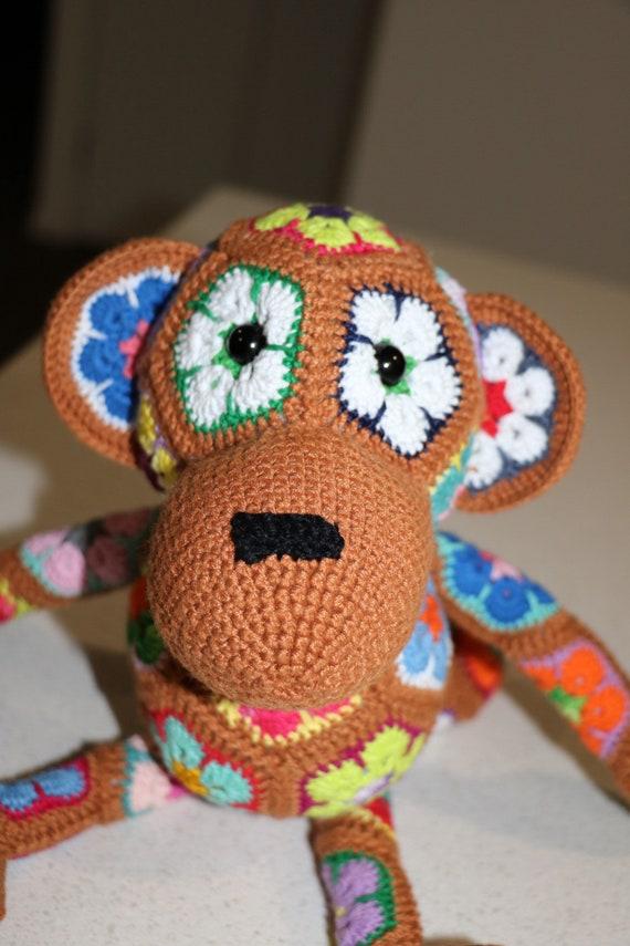 Afrikanische Blume Häkeln Affe Etsy