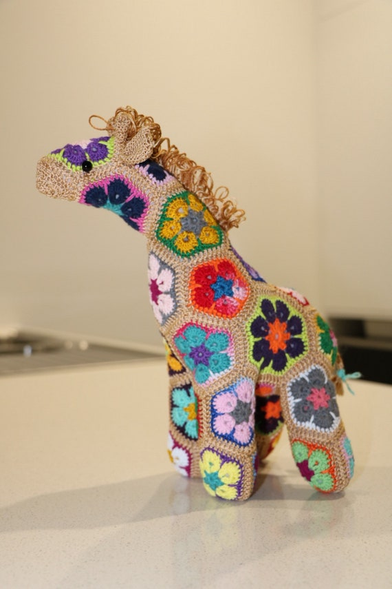 Afrikanische Blume Häkeln Giraffe Etsy