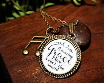 """Pendant Necklace """"Amazing Grace"""""""