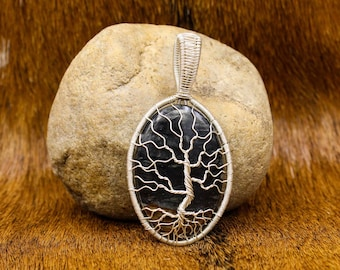Sterling Silver and Picasso Jasper Yggdrasil Pendant