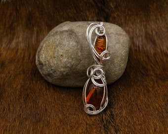 Sterling Silver & Baltic Amber pendant