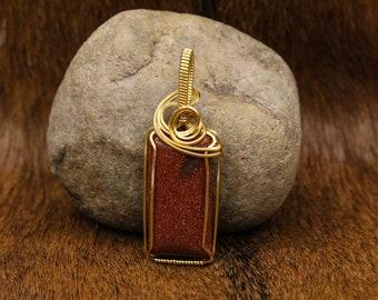 Brass & Goldstone pendant