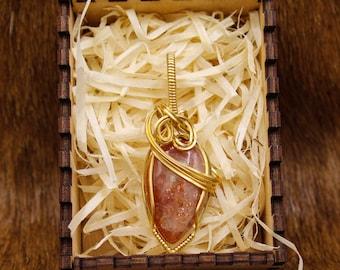 Brass & Sun Stone pendant