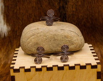 Copper Celtic Spiral Semi-adjustable ring