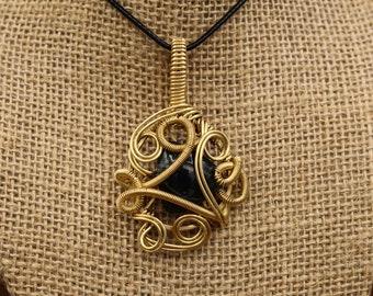 Brass & Sodalite pendant