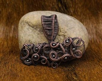 Copper Mjölnir Pendant with Iron Beads / Thor's Hammer / Mjǫllnir / Mjolnir