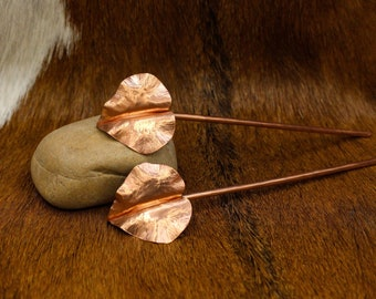 Copper Leaf Hair Stick Pair (547)
