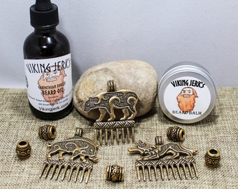 Viking Jerk's Jarl's Beard Kit with Crafty Celts beads & combs