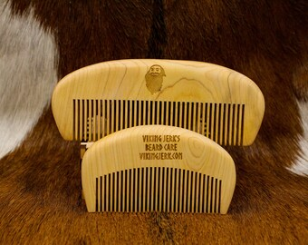 Viking Jerk's Natural Cedar Wood Beard Combs in Large or Small
