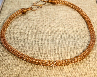 Viking Knit necklace in copper, bronze, brass, stainless steel, or sterling silver