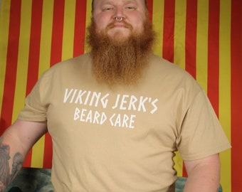 Viking Jerk's Beard Care Majestic Beard shirt and Complete Beard Care Kits
