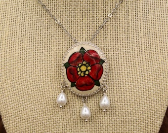 Custom pottery stone jewelry - how to order your custom piece with heraldry, pet portrait, or design