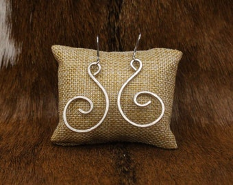 Sterling Silver Clef earrings with stainless steel posts