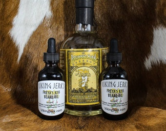 Viking Jerk's Freya's Kiss Scented Beard Oil & Complete Beard Care Kits
