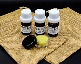 Viking Jerk's Beard Care Sample/Travel Kits with Oil and Balm