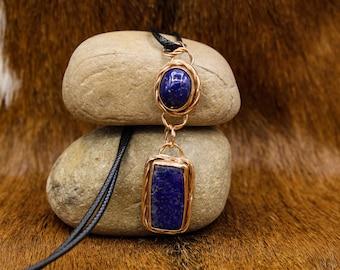 Bronze & Lapis Lazuli pendant (560)