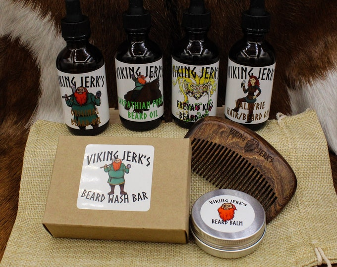 Featured listing image: Viking Jerk's Complete Beard Care Kits, Oil, & Balm
