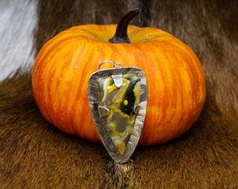 Bumblebee Jasper in Sterling Silver pendant(620)