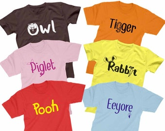 Winnie The Pooh Friends Shirts Disney Matching Family Shirts Men s Women s  Youth Toddler Baby T-shirt 852248b6e5