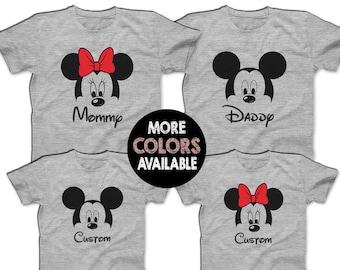 6998495f7 Mickey Minnie Shirts Disney Family Shirts Matching Disney T-shirts Custom  Disney Cruise Shirts Men's Women's Youth T-Shirts