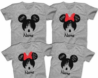 728fdbf5 Mickey Minnie Disney Castle 2019 Family Disney Trip Matching Disney T-shirts  Custom Disney Shirts Men's Women's Youth T-Shirts