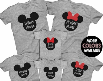 532dc4f70 Mickey Minnie Mouse Family Disney Family Shirts Family Disney Matching  Shirts Custom Shirts Men's Women's Youth T-shirts & Baby Bodysuits
