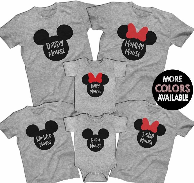c6a555bb2 Mickey Minnie Mouse Family Disney Family Shirts Family Disney | Etsy