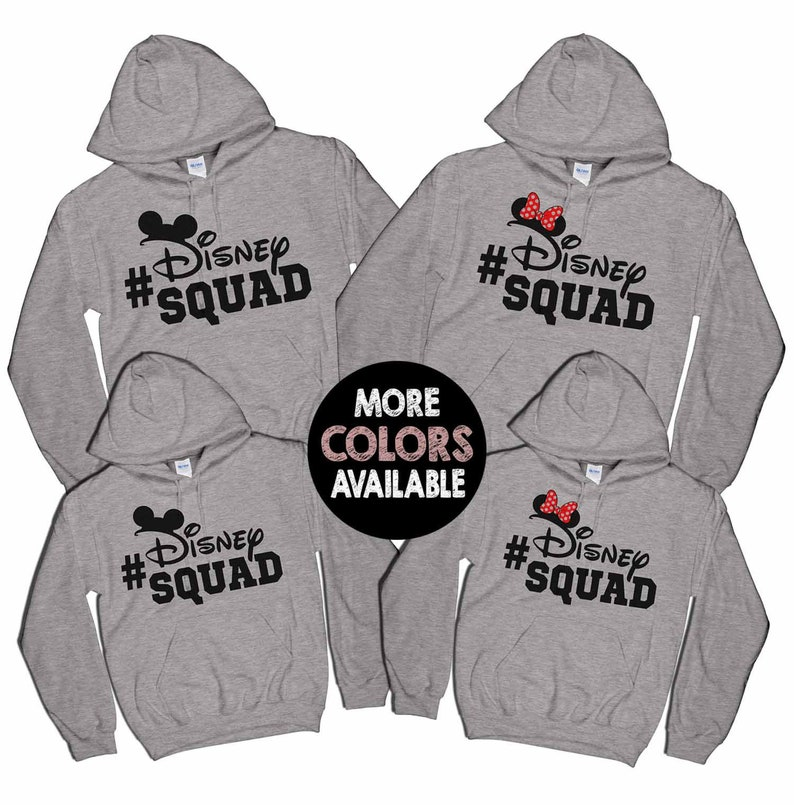 213efc5cfcc Disney Squad Hoodie Disney Family Hoodies Matching Disney