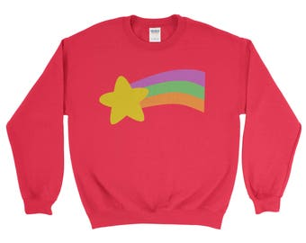 Mabel Pines shooting rainbow star Sweatshirt Gravity Falls Halloween costume Sweater Adult Men Youth Kids Sizes