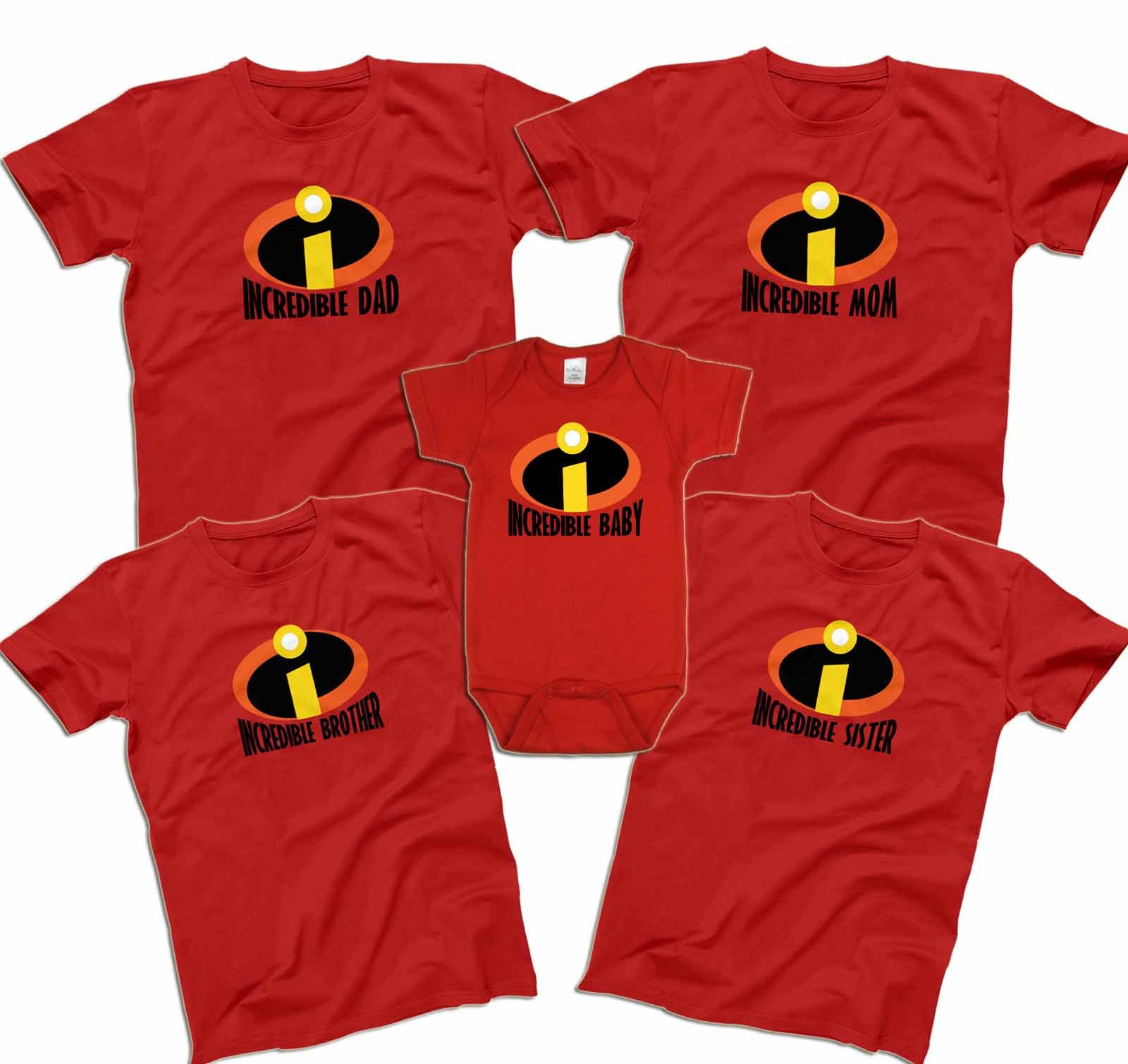 5d3be905 Incredibles Family Shirts Mr Incredible Mrs Incredible Shirts | Etsy