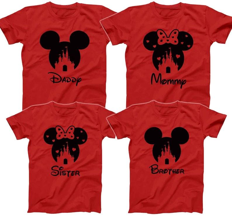 033b76d09 Mickey Minnie Disney Castle T-shirts Disney Family Shirts | Etsy