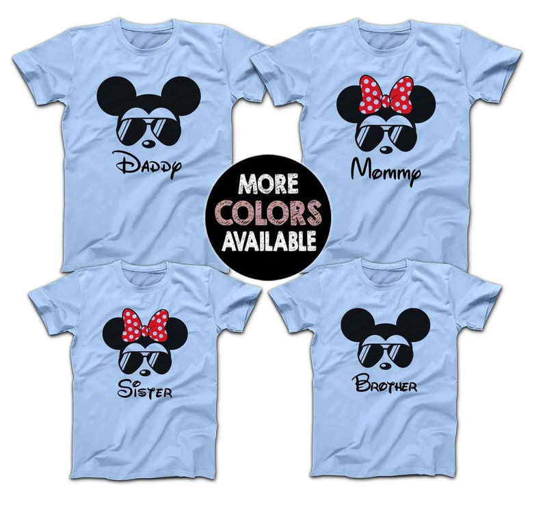 1b558bd16 Sunglasses Mickey Minnie Disney Family Shirts Matching Disney | Etsy