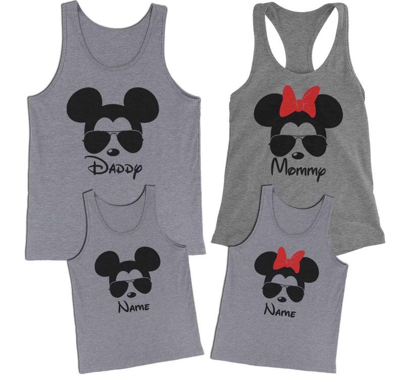 f56ee47cae6a92 Mickey Sunglasses Tank Minnie Shades Tank Disney Family Tank
