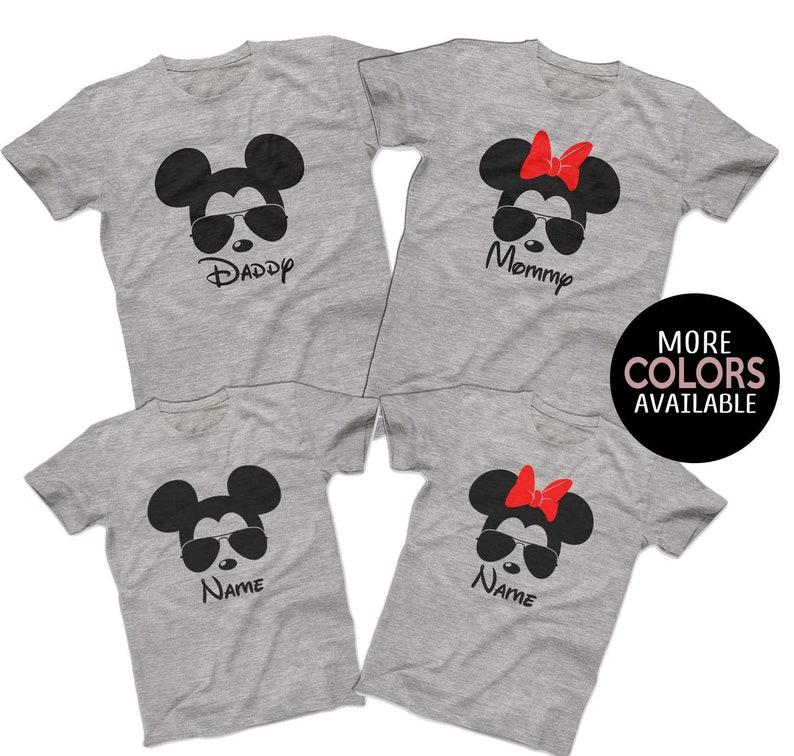 Sunglasses Mickey Minnie Disney Family Shirts Matching Disney Family T Shirts Custom Disney Cruise Group Shirts Men S Women S Youth T Shirts