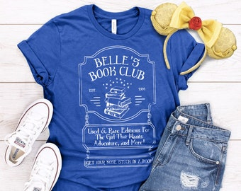 3ed30478 Disney Beauty and The Beast Shirt, Belle Shirt, Book Lover Gift, Bookish,  Literary Gifts