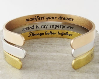 The Regina Fugly Slut Bracelet Rose Gold Mean Girls Cuff Bracelet