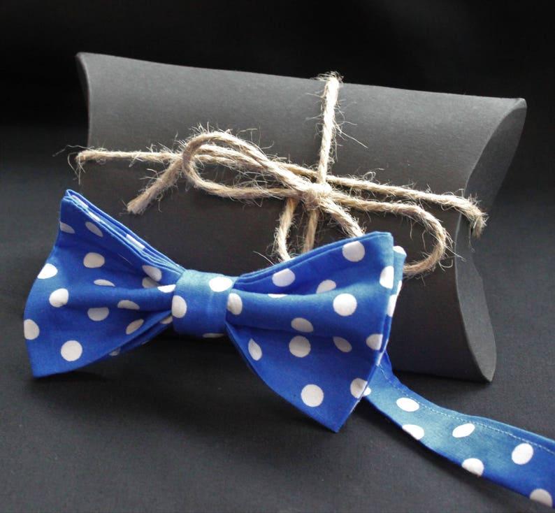 Bow Tie Cotton UK Made Light Blue Premium Quality Pre-Tied.