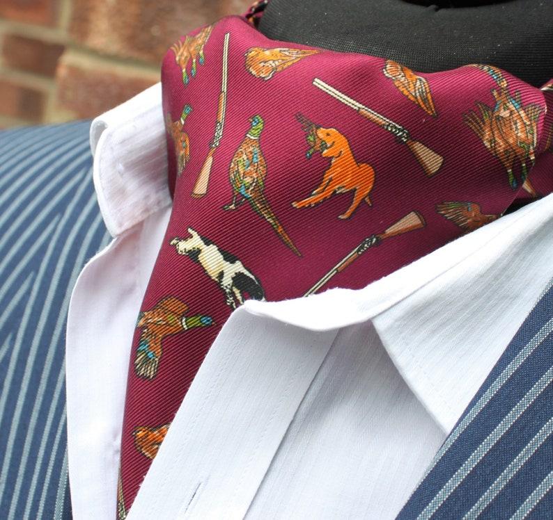 Blue /& Orange Paisley DBC05-16500-3 Silk Cravat Ascot.Quality Hand Made in UK