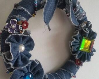 Garden Jeans Wreath