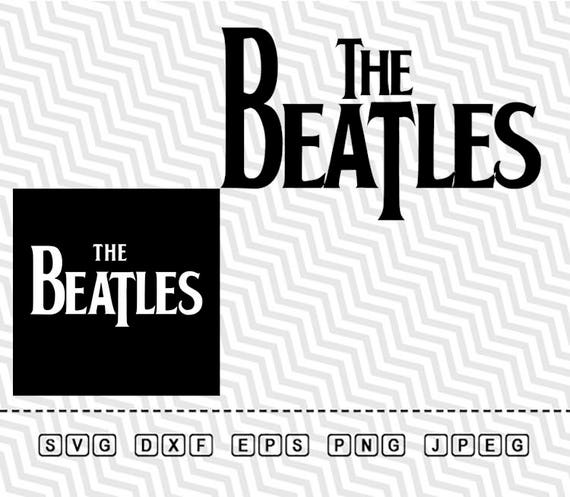 svg the beatles logo vector layered cut file silhouette cameo etsy