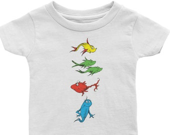 One Fish Two Fish Red Fish Blue Fish Baby Shirt