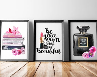 Coco Chanel Beauty Print Set