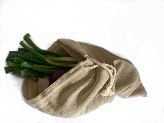 Hessian Produce Bag, sustainable bags, fruit and veg bags, sustainable gifts, kitchenware, bathroom storage, bedroom storage, shoe storage