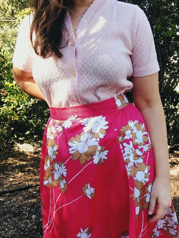 70s hot pink skirt