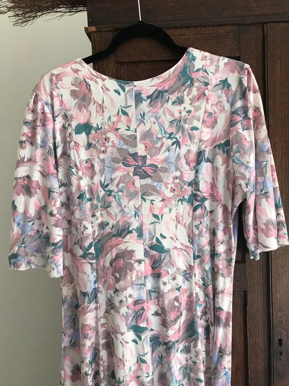1980s handmade floral vintage dress - image 6